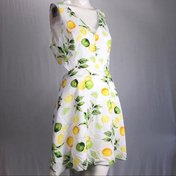 a38a88fa85b Kensie Dresses   Skirts - 💥 Kensie Lemon Lime Fruit Dress Open Back
